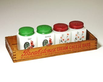 Vintage Wood Cheese Box for Breakstone's Cream Cheese  Bars- circa 1940's