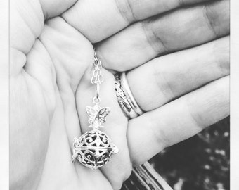 Sterling silver aromatherapy diffuser necklace