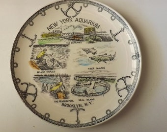 New York Aquarium Souvenir Plate