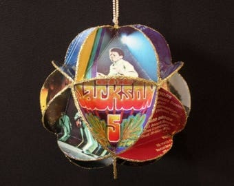 Jackson 5 Album Cover Ornament Made Of Record Jackets: Jackson Five, Michael Jackson