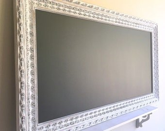 Huge MAGNETIC CHALKBOARD Restaurant Chalkboard Restaurant Menu Board White Framed Chalkboard Chalk Board Large Chalkboard Wedding Chalkboard