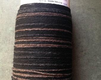 Saori ready made limited edition black and tan cashmere warp