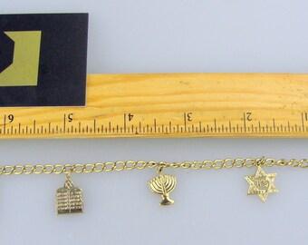 NOS GF charm bracelet.   Judaica Jewish