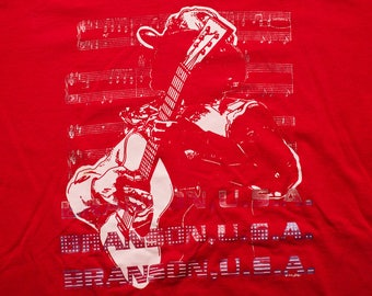 Branson USA Country Music T-Shirt, Missouri, MO, Vintage 90s, Acoustic Guitar Playing Cowboy Apparel, Southern Musician