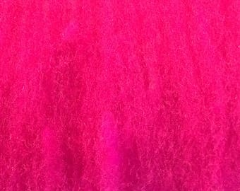 BATT - Wool Fiber - Rhodamine - like roving