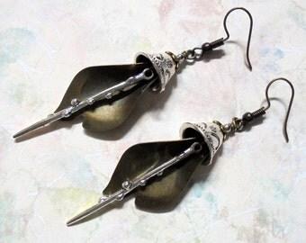 Silver and Brass Boho Earrings (3367)