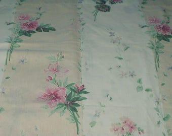 Martex Miralux Vintage Pillowcase King Size Pillow Case Dacron Cotton Floral Print Country Cottage Decor Bedding Retro Chic 417