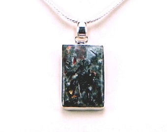 Rare Russian Astrophyllite Sterling Silver Pendant - N898