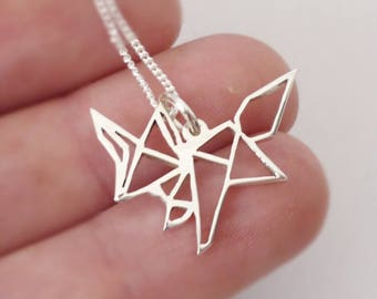 Sterling silver Origami inspired Foxy Pendant