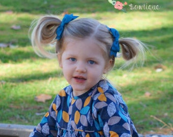 Deep Teal Hair Bow, Girls Hair Bows, Teal Hair Clip, Teal Bow, Toddler Hair Bow, Hair Accessories, Gifts for Girls, Back to School Hair Bow