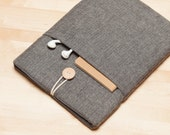 iPad sleeve, iPad case, iPad Pro 9.7 case, iPad Air 2 sleeve, plain  - Frannel grey