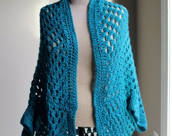 Crocheted Granny Square Shrug