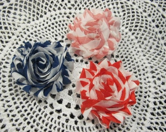 Shabby Chic Chiffon Flower--Pink--Red--Blue--You Choose--Girls--Toddlers