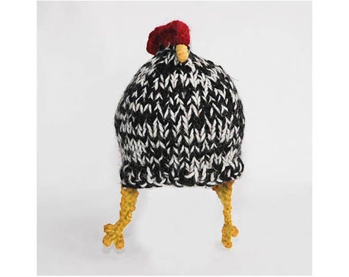 Barred Rock Chicken Hat
