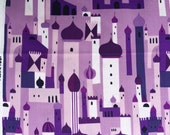1001 Peeps Royal City purple Lizzy House Andover fabrics FQ or two