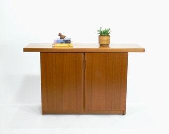 Danish Modern Teak Console Table // Dry Bar // Credenza // Cabinet