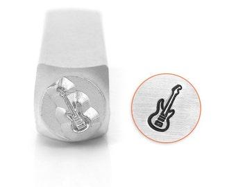 Guitar Metal Stamp-Metal Design Stamp-ImpressArt- 6mm Design Stamp--Steel Stamps-Metal Stamping Tool-Metal Supply Chick SC1523G