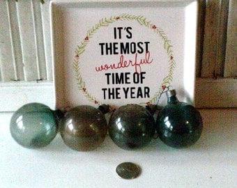 Vintage Antique Glass Christmas Ornaments WWII Era 0055