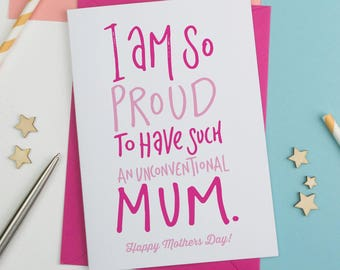 I am so proud Mother's Day Card, Mothersday Card, Card for Mum, card for Mom