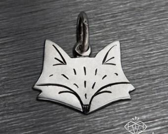 Fox Necklace – Fox Charm Necklace – Silver Fox Charm – Fox Jewelry – Sterling Silver Charm – Woodland Animal Jewelry – Silver Fox Necklace