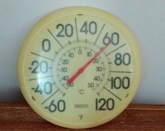 Vintage Springfield Outdoor Thermometer Retro Mid-Century