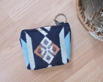Medicine Bag, Keychain, Coin, Zipper Change Purse, Gift Card Holder Coyote Butte Southwest Leather Tassel or Beads 4.75 x 3.75