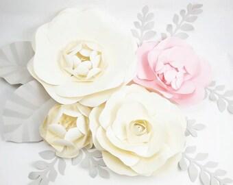 Extra large Paper Flower Backdrop - Nursery Decor - Girl Bedroom - Custom Order