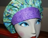 Calypso Turtles Banded Bouffant Surgical Cap Bakers Cap