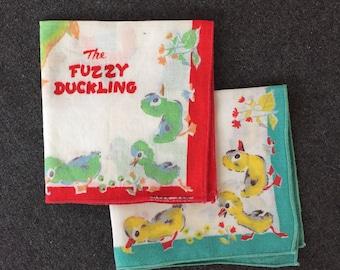 The Fuzzy Duckling Handkerchiefs A Golden Book Design by Provensens (2)