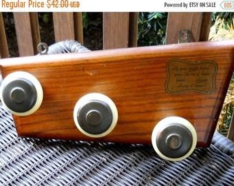 ON SALE NOW Retro Wooden Bakelite Door Knob Hanger Ties Belts Jewelry 1960s