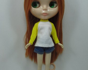Handmade outfit for Blythe doll long sleeve Sweater Tee shirt SD-2
