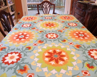 Table Cloth #1508, Table Cloth, Bright Table Cloth, Table Covering, Dinner Table, Table Linen, Linens, Tablecloth, Entertain, Kitchen Table