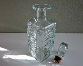 Vintage 1979 Walker Bourbon License  Plate Decanter, Missouri, Pennsylvania, Florida, Utah - Liquor Decantor - Mans Cave - Collectible