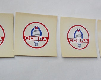 4 Vintage Shelby Cobra Auto Window stickers