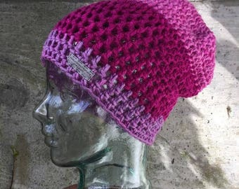 Crochet Slouchy Beanie~Ready to Ship~FREE SHIPPING