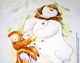THE SNOWMAN By Raymond Briggs - Knitting Pattern Booklet Motif Sweater (INTARSiA) - Gary Kennedy - Original Knitting Pattern Instructions