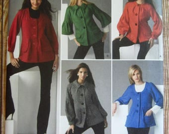 Misses Jackets with Front and Sleeve Variations Sizes 6 8 10 12 14 Simplicity Pattern 2760 UNCUT