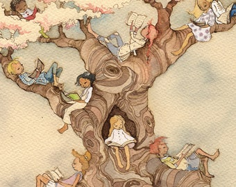 The Reading Tree - signed print