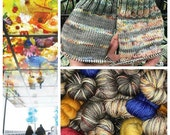 Tacoma Glass Bridge Polar Opposites with BLUE Contrast PRE-ORDER... Canon Hand Dyes William Self Striping Superwash Sock Yarn