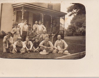 Vintage Photo - The Men of the Farm - Vintage Photograph, Vernacular, Snapshot (A)