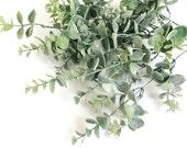 Eucalyptus bouquet, faux eucalyptus spray, Silver Dollar eucalyptus, eucalyptus leaves, eucalyptus centerpiece, eucalyptus arrangement
