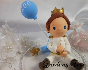 Customise Lovely Little Prince with Circle clear Base for Kids Birthday or Baby Shower