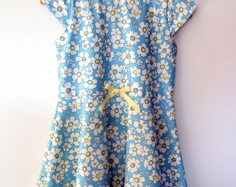 Blue & White Floral Dress 4 Years
