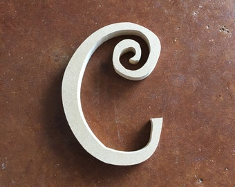 wooden letter c for craft wreath frame destash