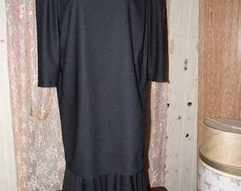 75% Off Sale Vintage Risa Ann Black Evening Dress/Sz 16