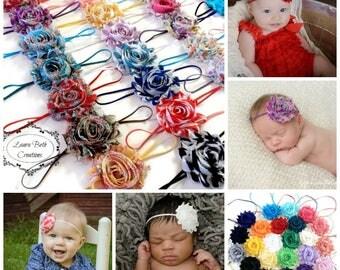 You Pick 10 - Shabby Chic Rose Headband Set, Infant Headband, Newborn Headband, Children's Headband, Baby Girl Headbands, Women's Headbands