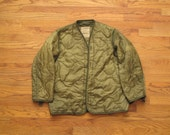 vintage quilted military jacket liner