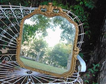 Antique Mirror, Ornate Mirror, Gold Mirror, Farmhouse Mirror, Bathroom Mirror
