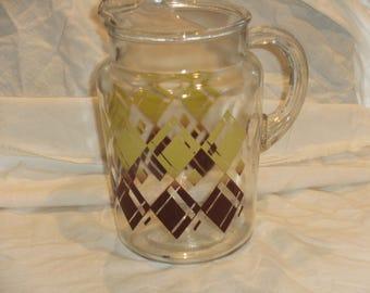 Vintage Glass Lemonade Pitcher