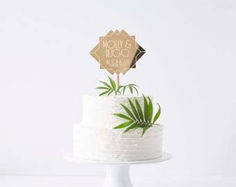 Personalised Art Deco Wedding Cake Topper